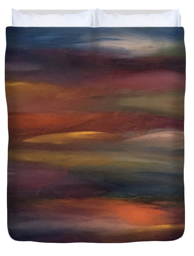Abstract Duvet Cover featuring the painting Bohemian Rhapsody by Susi Schuele