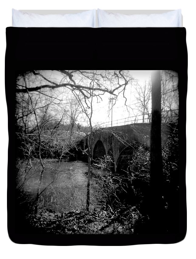 Photograph Duvet Cover featuring the photograph Boiling Springs Bridge by Jean Macaluso