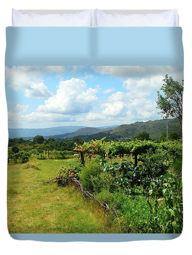 Portugal Duvet Cover featuring the photograph Boimo 2 by Victoria Cerqueira