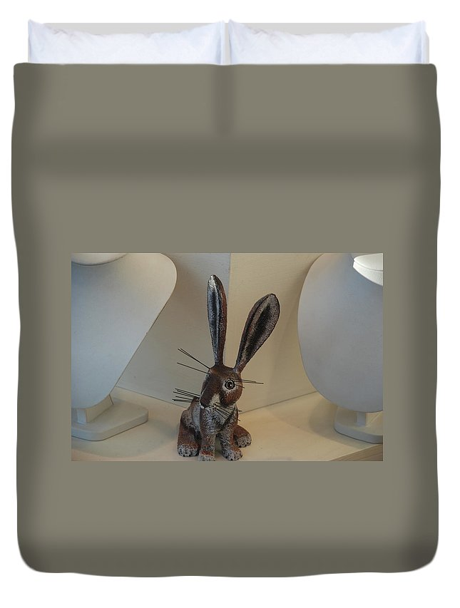 Rabbit Duvet Cover featuring the photograph Boink Rabbit by Rob Hans