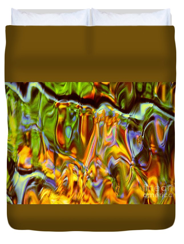 Abstract Duvet Cover featuring the photograph Boisterous Bellows Of Colors by Sybil Staples