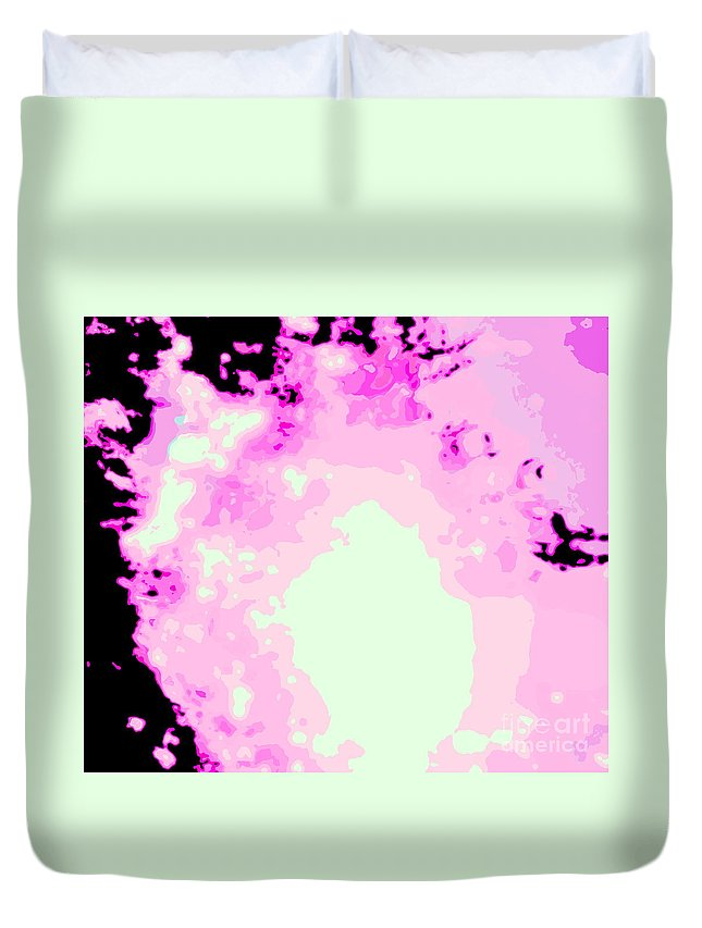 Water Art Duvet Cover featuring the photograph Spark Of Heart Light by Sybil Staples