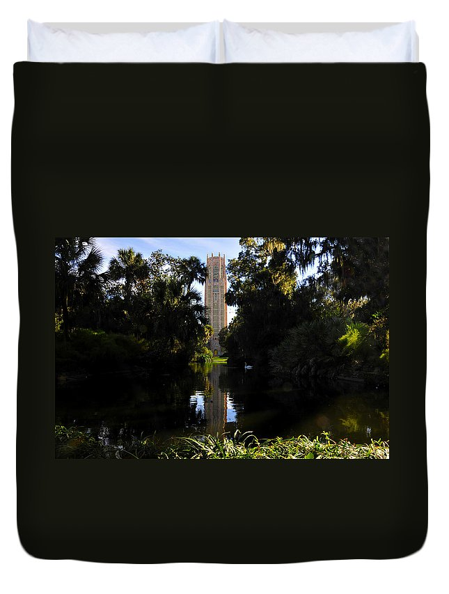 Bok Tower Gardens Florida Duvet Cover featuring the photograph Bok Tower Gardens by David Lee Thompson