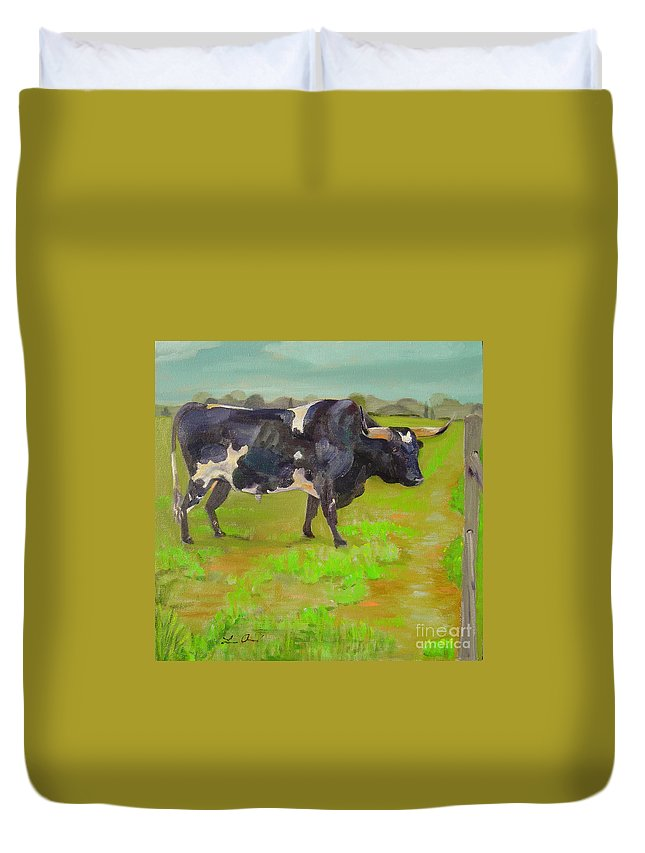 Southwest Duvet Cover featuring the painting Bold Beauty by Lilibeth Andre
