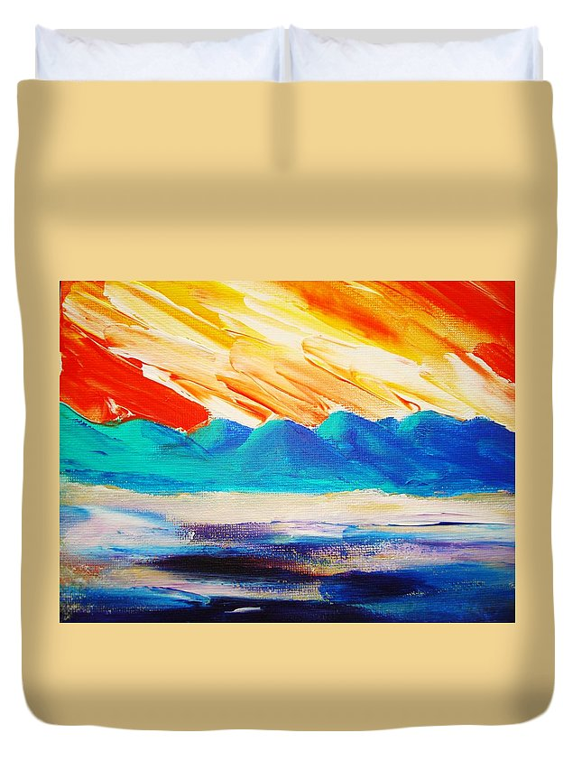 Bright Duvet Cover featuring the painting Bold Day by Melinda Etzold