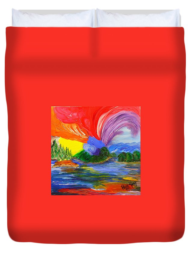 Bold Duvet Cover featuring the painting Bold New Day - Or A Trip Around My Palette by Peggy King