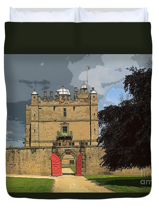 Castle Duvet Cover featuring the photograph Bolsover Castle by Louise Heusinkveld