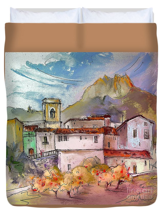 Bolulla Duvet Cover featuring the painting Bolulla 02 by Miki De Goodaboom