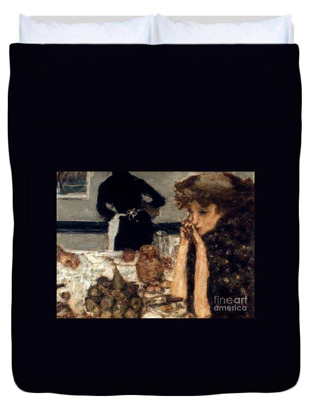 1899 Duvet Cover featuring the photograph Bonnard: Breakfast, C1899 by Granger