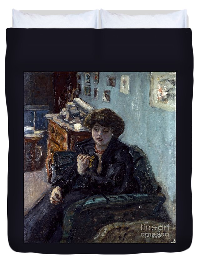 19th Century Duvet Cover featuring the photograph Bonnard: Lady, 19th C by Granger