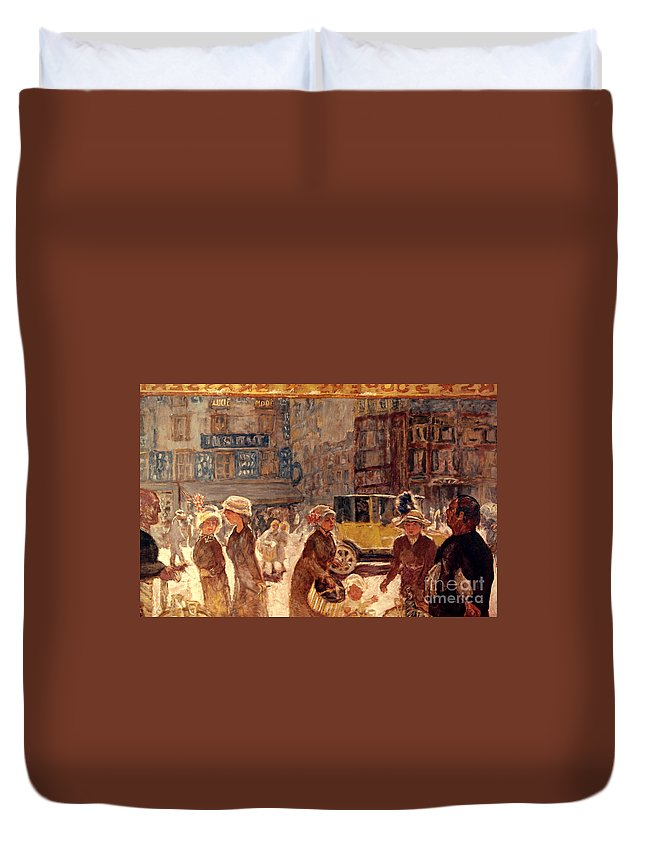 1912 Duvet Cover featuring the photograph Bonnard: Place Clichy by Granger