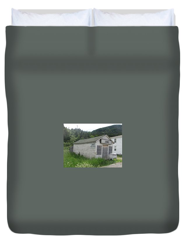 Photograph Bonne Bay Newfoundland Army Navy Store Duvet Cover featuring the photograph Bonne Bay2 by Seon-Jeong Kim
