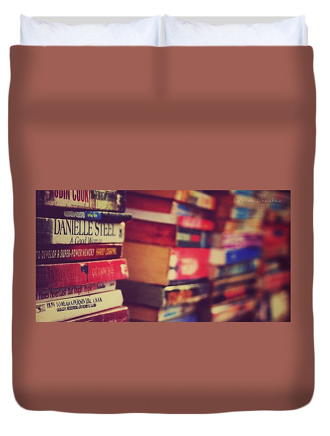 Books Duvet Cover featuring the photograph Books by Ambrish Chauhan