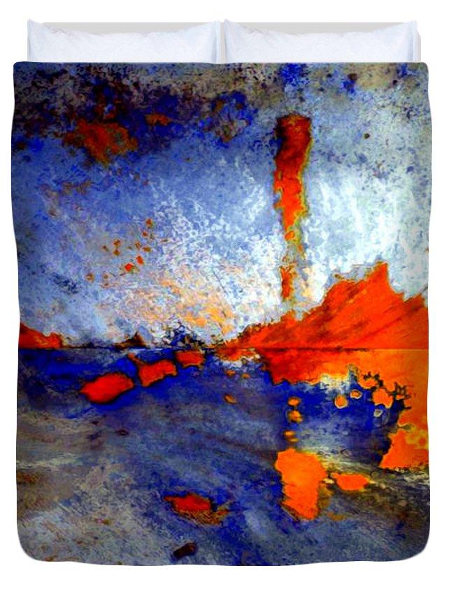 Rafael Salazar Duvet Cover featuring the digital art Boom by Rafael Salazar