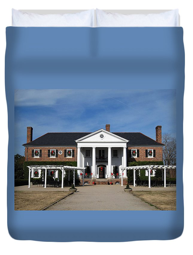 Photography Duvet Cover featuring the photograph Boone Hall Plantation Charleston Sc by Susanne Van Hulst
