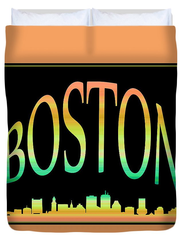 Boston Skyline Duvet Cover featuring the photograph Boston Skyline 10 by Andrew Fare