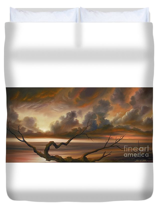 Ocean Duvet Cover featuring the painting Botany Bay by James Christopher Hill