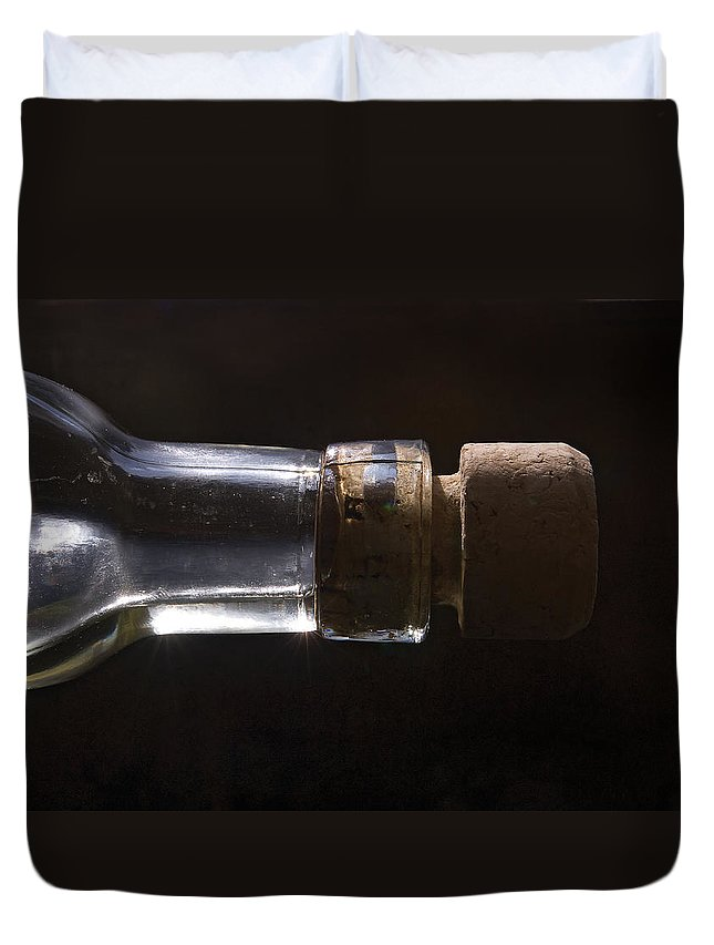 Cork Duvet Cover featuring the photograph Bottle And Cork-1 by Steve Somerville