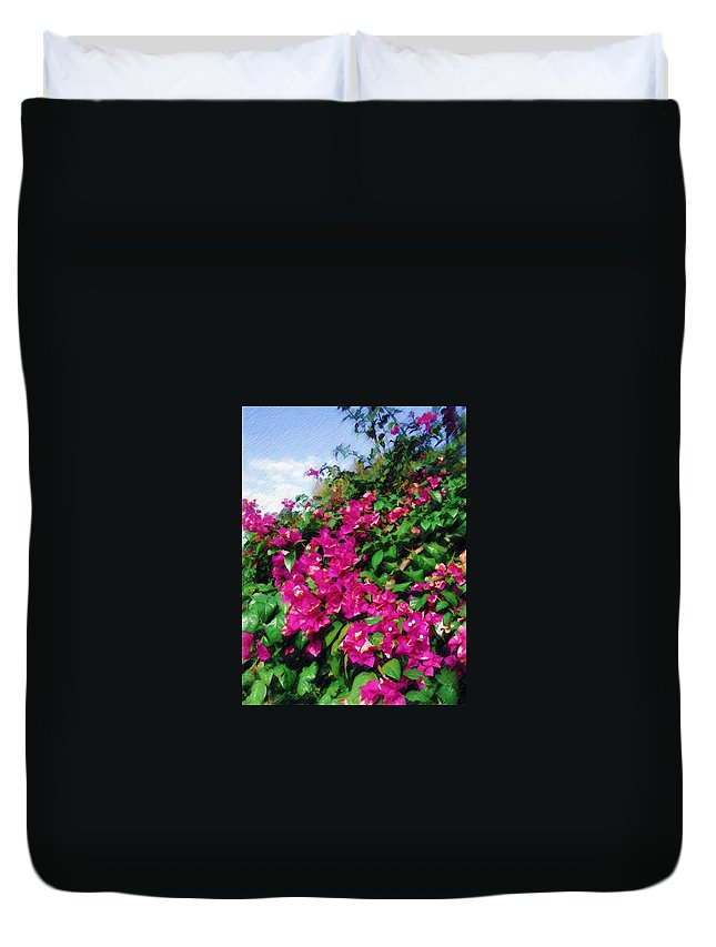 Bougainvillea Duvet Cover featuring the photograph Bougainvillea by Sandy MacGowan