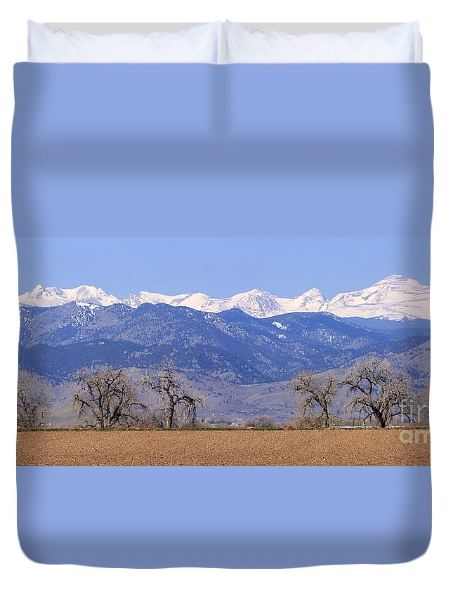 Boulder Duvet Cover featuring the photograph Boulder County Colorado Panorama by James BO Insogna