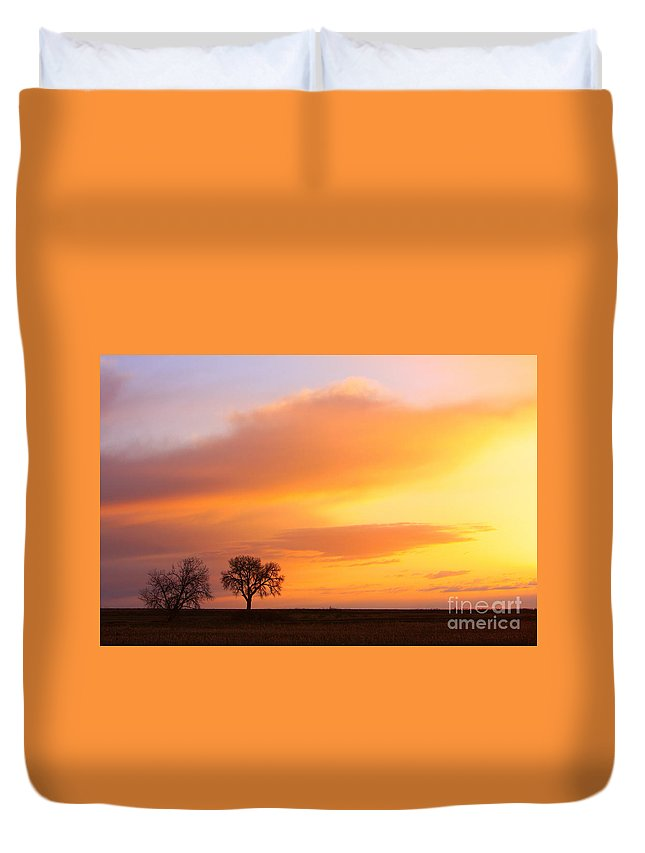 Sunrise Duvet Cover featuring the photograph Boulder County Sunrise by James BO Insogna
