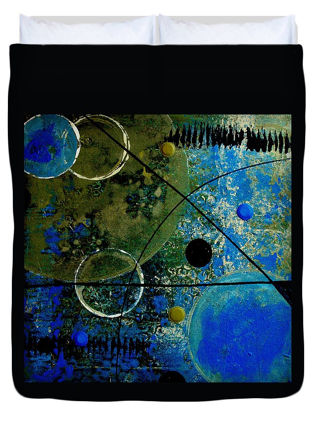 Abstract Duvet Cover featuring the painting Bouncer by Ruth Palmer