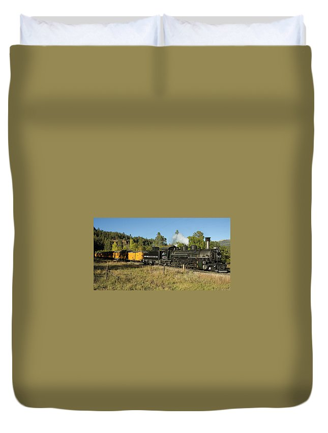 Durango Duvet Cover featuring the photograph Bound For Durango by Jerry McElroy