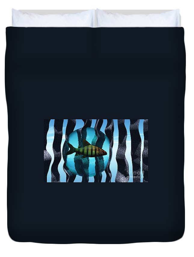 Surreal Duvet Cover featuring the digital art Bound by Richard Rizzo