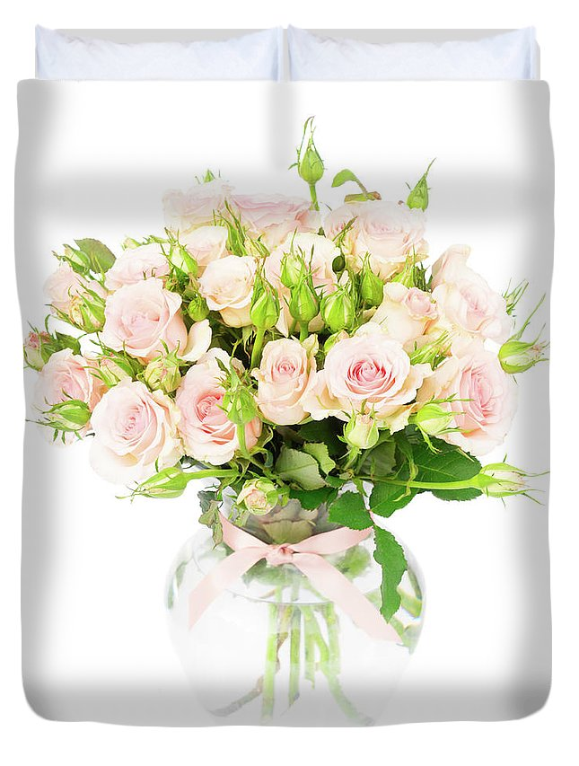 Rose Duvet Cover featuring the photograph Garden Roses by Anastasy Yarmolovich