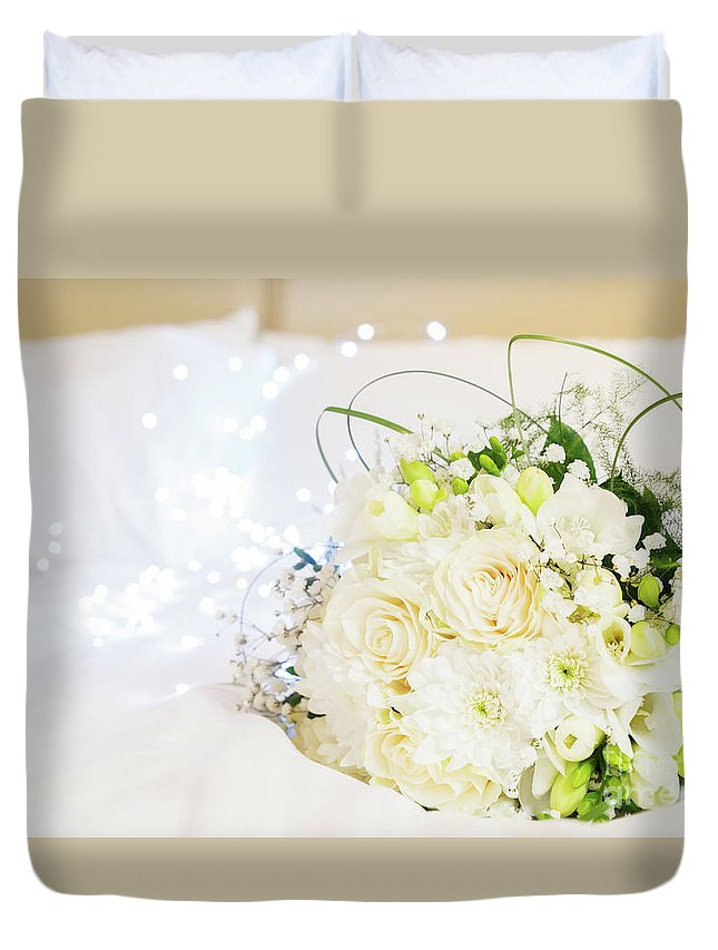 Roses Duvet Cover featuring the photograph Romantic Night by Anastasy Yarmolovich