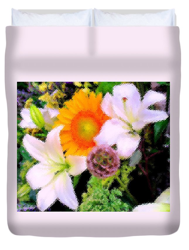 Sun Duvet Cover featuring the photograph Bouquet Softly There by Ian MacDonald
