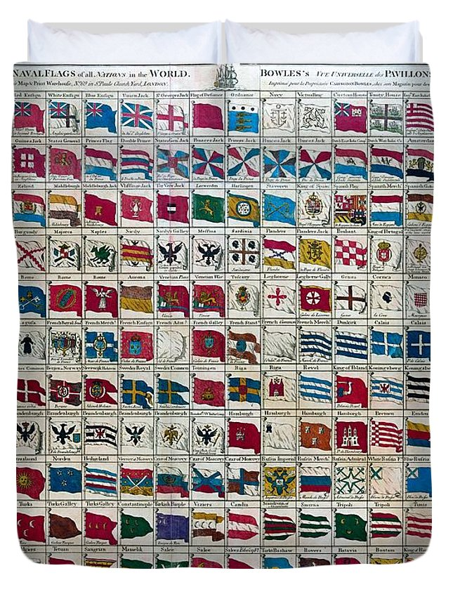 Bowless naval flags of the world 1783 duvet cover for sale by carington bowles duvet cover featuring the painting bowless naval flags of the world 1783 by publicscrutiny Images