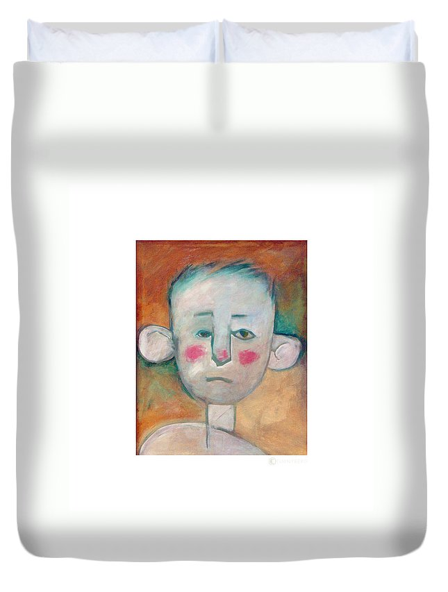 Boy Duvet Cover featuring the painting Boy by Tim Nyberg