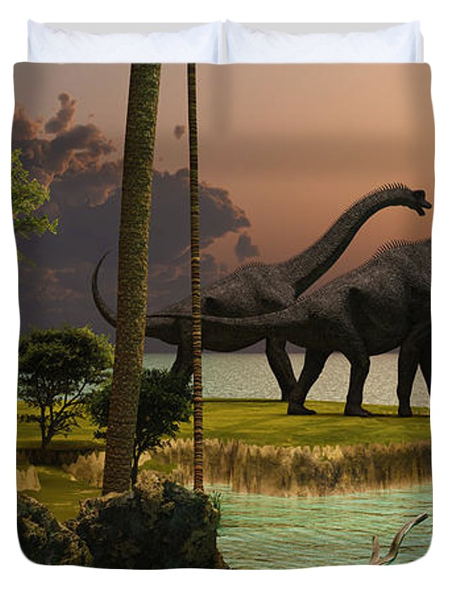 Baggage Covers Cretaceous Dinosaur Tropical Blue Washable Protective Case