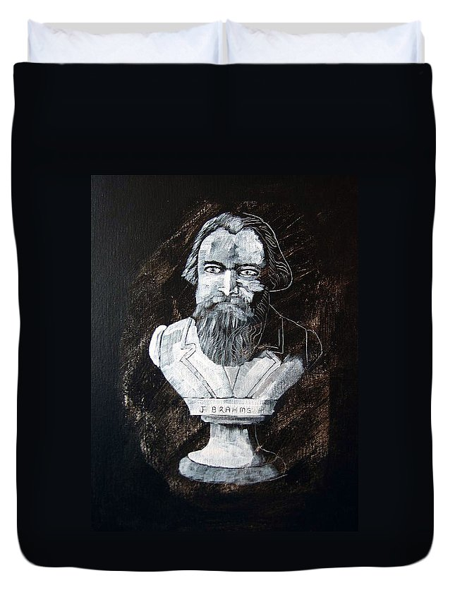 Brahms Duvet Cover featuring the painting Brahms by Richard Le Page