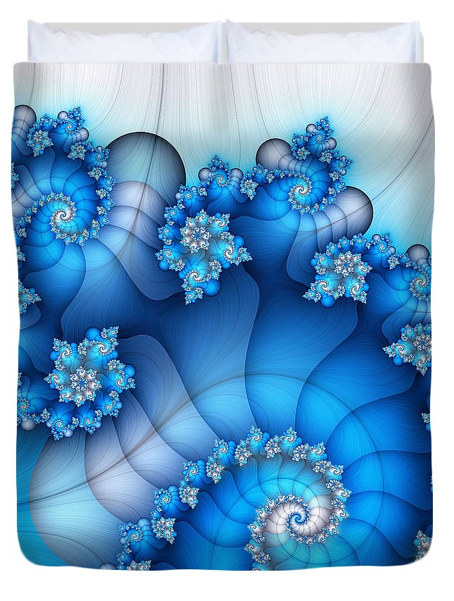 Fractal Duvet Cover featuring the digital art Brainstorming by Jutta Maria Pusl