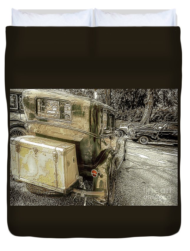 Cars Duvet Cover featuring the photograph Brake Time by John Anderson