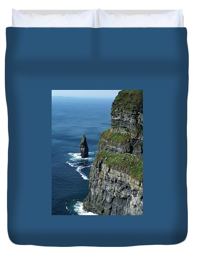 Irish Duvet Cover featuring the photograph Brananmore Cliffs Of Moher Ireland by Teresa Mucha