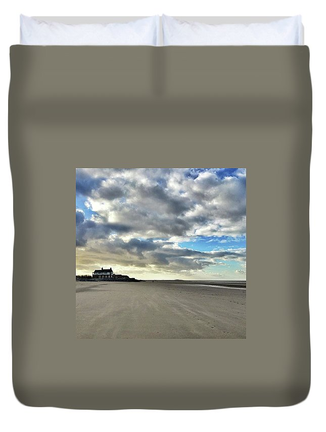 Norfolk Duvet Cover featuring the photograph Brancaster Beach This Afternoon 9 Feb by John Edwards