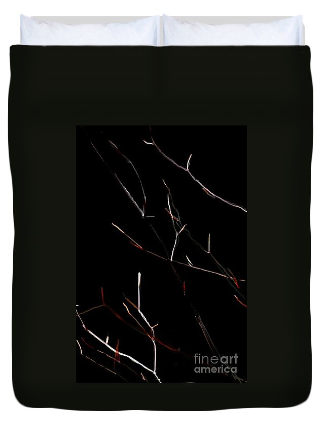 Duvet Cover featuring the digital art Branches In The Dark by David Lane