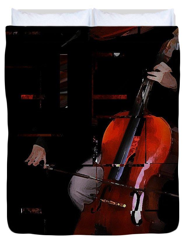 Bach Duvet Cover featuring the digital art Brandenburg In Autumn by Ken Walker