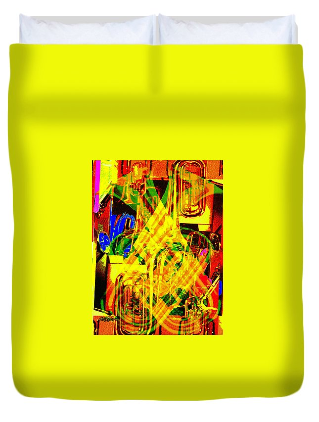 Festive Duvet Cover featuring the digital art Brass Attack by Seth Weaver