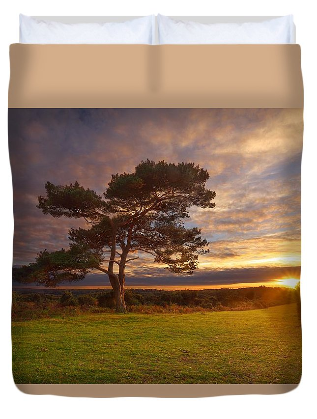 Bratley Duvet Cover featuring the photograph Bratley View Tree by Giovanni Giuliano