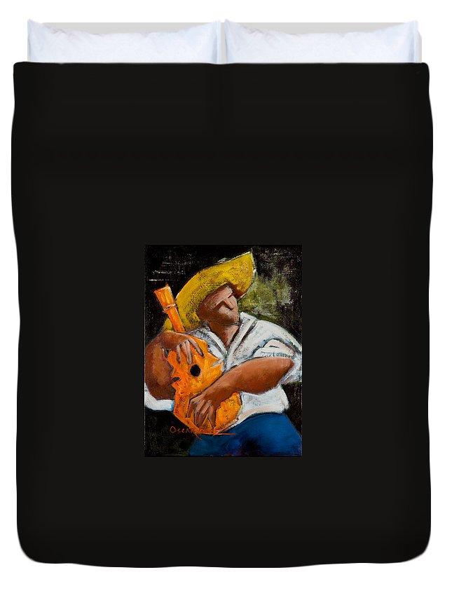 Puerto Rico Duvet Cover featuring the painting Bravado Alla Prima by Oscar Ortiz