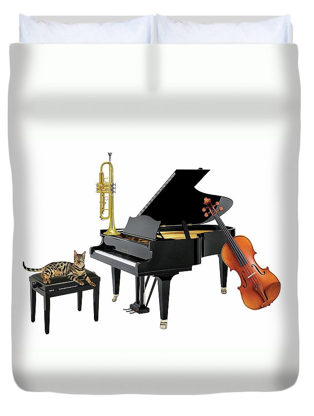 Music Duvet Cover featuring the photograph Break by Manfred Lutzius