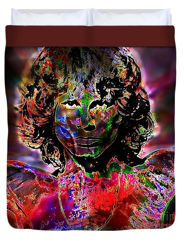 Break On Through To The Other Side By Wbk Duvet Cover featuring the painting Break On Through Alt by Wbk