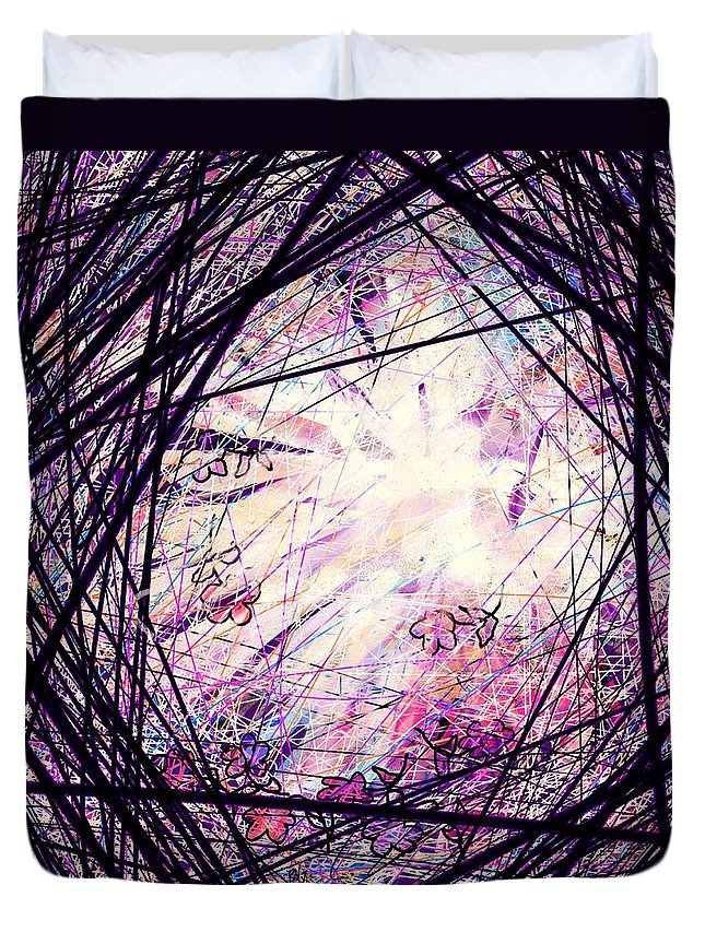 Abstract Duvet Cover featuring the digital art Breakdown by William Russell Nowicki