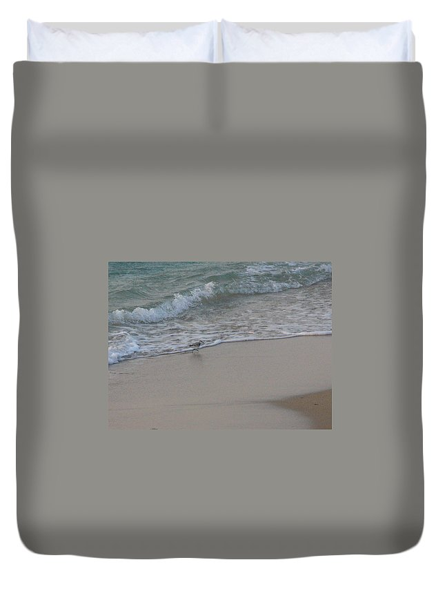 Surf Duvet Cover featuring the photograph Breakfast At The Shore by Peggy King