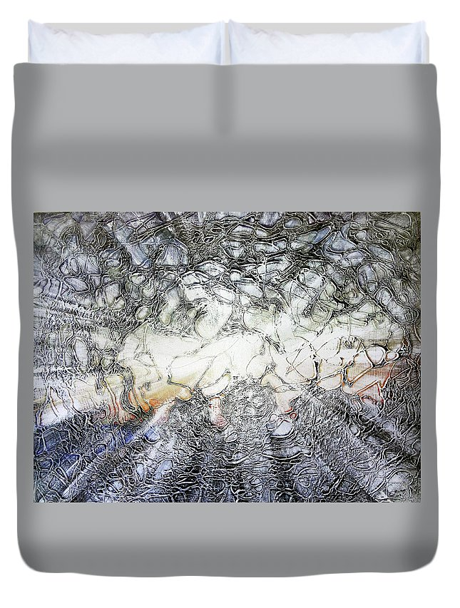 Big Island Duvet Cover featuring the painting Breakthrough by Ethel Mann