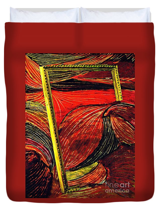 Wave Duvet Cover featuring the mixed media Breakthrough by Sarah Loft